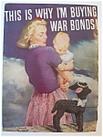 Ww Ii Era 1943 Buying War Bonds Patriotic Ad