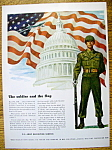 Ww Ii Era 1947 U. S. Army Recruiting Patriotic Ad