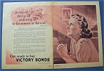 1944 Get Ready To Buy Victory Bonds