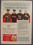 1941 Camel Cigarettes With Army, Navy, Marines & More