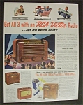 Vintage Ad: 1941 Rca Victor Radio