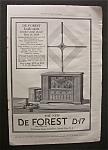 Vintage Ad: 1925 De Forest Radio Co.
