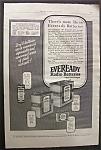 Vintage Ad: 1925 Eveready Radio Batteries