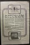 Vintage Ad: 1925 True Blue Radio Tube