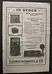1925 Ludwig Hommel & Co Radiolas W/ 4 Different Models
