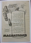 Vintage Ad: 1925 Magnatrons
