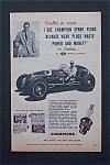 Vintage Ad: 1954 Champion Spark Plugs W/sam Hanks
