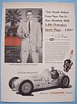 Vintage Ad: 1955 Champion Spark Plug W/ Jimmy Bryan