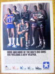 1986 Converse Shoes Ad With Larry Bird & Magic
