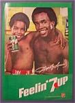 1981 7 Up Soda Ad With Sugar Ray Leonard & Ray Jr.