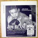 1974 Jim Beam Whiskey Ad With Boxer Joe Louis