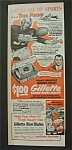1952 Gillette Super-speed Razor W/ Tom Fears