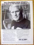Vintage Ad: 1978 Sinclair Pocket Tv W/ Terry Bradshaw
