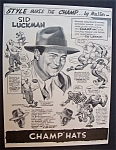 Vintage Ad: 1946 Champ Hats With Sid Luckman