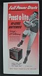 1955 Prest - O - Lite Battery With Hugh Mcelhenny