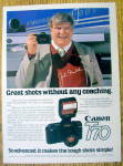Ad: 1986 Canon T70 Camera With John Madden