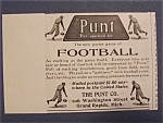 1904 Punt Football Ad With Parlor Football Game
