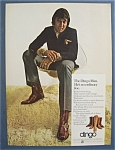 1970 Dingo Boots With Joe Namath