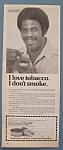 1978 Skoal Smokeless Tobacco W/football's Earl Campbell