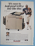 Vintage Ad: 1988 Canon Copier With Walter Payton