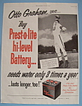 Vintage Ad: 1953 Prest-o-lite Battery W/otto Graham
