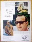 Vintage Ad: 1969 Ray Ban Sun Glasses W/arnold Palmer