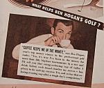 Vintage Ad: 1942 Coffee W/ben Hogan & Claudette Colbert