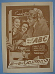 1946 Chesterfield Cigarettes With Man Talking To Women
