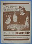 1946 Chesterfield Cigarettes W/ Girl Selling Cigarettes