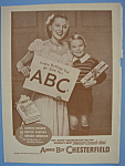 1946 Chesterfield Cigarettes Dad Know Your Abc's