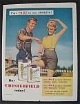 1955 Chesterfield Cigarettes