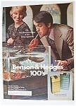 1976 Benson & Hedges 100's Cigarettes
