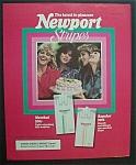 1989 Newport Stripes Cigarettes