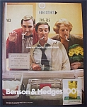 1971 Benson & Hedges 100's Cigarettes