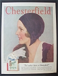 1931 Chesterfield Cigarettes By J. Knowles Hare