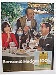 1972 Benson & Hedges 100's Cigarettes