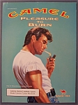 2000 Camel Cigarettes With Man Lighting Cigarette