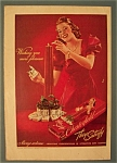 1939 Chesterfield Cigarettes W/woman In A Red Dress