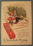 1939 Chesterfield Cigarettes W/man Carrying A Tree