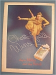 1937 Chesterfield Cigarettes With A Woman Skating