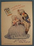 1937 Chesterfield Cigarettes With A Masquerade Party