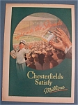 1937 Chesterfield Cigarettes W/ Man Throwing Cigarettes