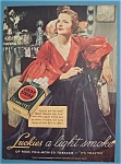 1936 Lucky Strike Cigarettes W/woman With Cigarette