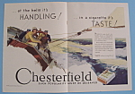 1930 Chesterfield Cigarettes W/woman & Men Sailing