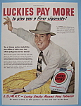 Vintage Ad: 1949 Lucky Strike Cigarettes W/l.g. Griffin