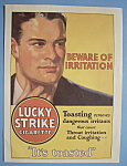 1930 Lucky Strike Cigarettes With Man Feeling Throat