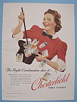 1939 Chesterfield Cigarettes W/woman Waving A Wand