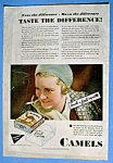 1931 Camel Cigarettes With A Woman Smoking A Cigarette
