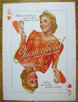 1940 Chesterfield Cigarettes With Queen Of Hearts