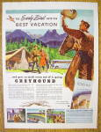 1947 Greyhound With Cowboy Waving Hat To Couple